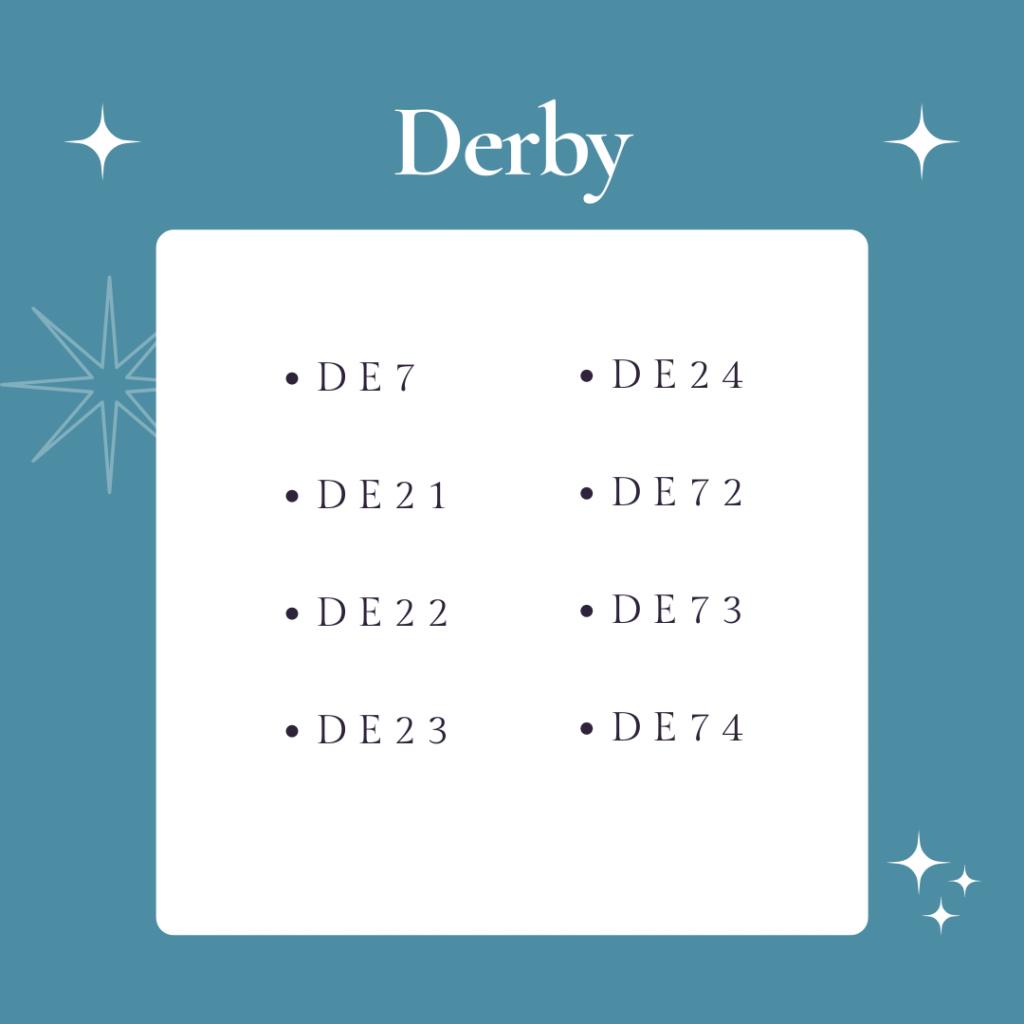 Derby areas